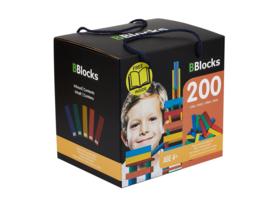BBlocks bouwplankjes 200 stuks gekleurd in opbergdoos