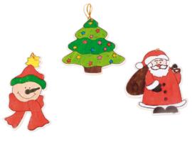 Kleur je eigen kersthangers