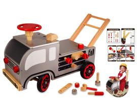 Houten loopwagen constructie I'm Toy