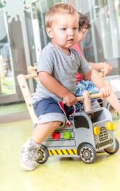 Houten loopwagen & duwwagen werktruck I'm Toy