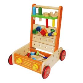 Houten loopwagen gereedschap I'm Toy