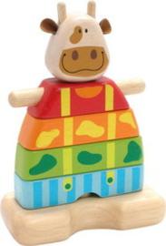 I'm Toy houten stapelvorm koe