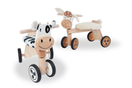 Houten loopfiets koe I'm Toy met of zonder naam