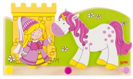 Houten kinderkapstok unicorn