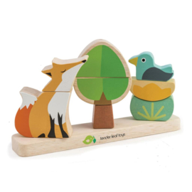 Magnetische stapeltoren vos in het bos Tender Leaf Toys