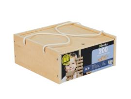 BBlocks bouwplankjes 200 stuks in houten kist
