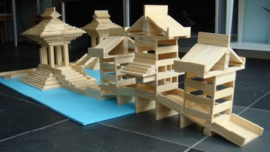 BBlocks bouwplankjes 200 stuks in opbergdoos