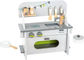 Houten compacte keuken modern
