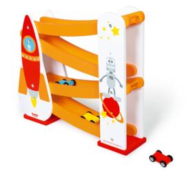 Houten autobaan raket