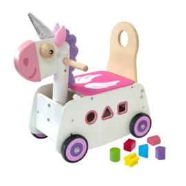 Houten loopwagen & duwwagen Unicorn (eenhoorn) I'm Toy