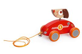 Houten trekfiguur hondje César Scratch