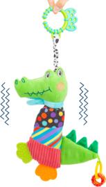 Babyspeeltje bijtring/rammelaar krokodil