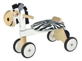 Houten loopfiets zebra I'm Toy met of zonder naam