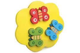 Houten 3D puzzel vlinders