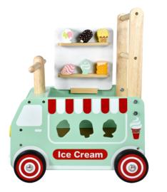 Houten loopwagen & duwwagen ijscotruck I'm Toy