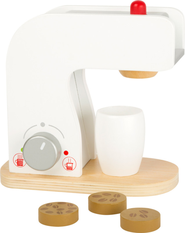 Houten koffiemachine met koffiepads