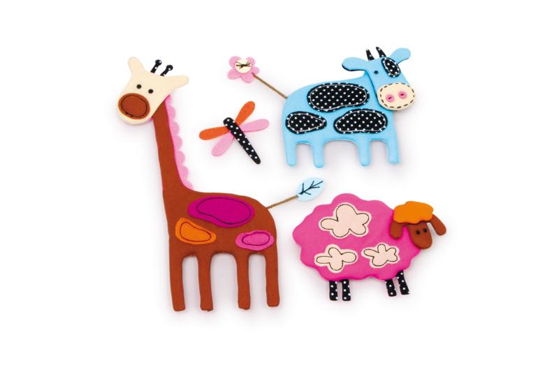 Stoffen decoratiestickers dieren
