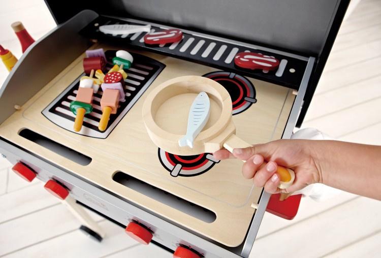 Hape barbecue incl. 21 accessoires | Winkeltjes & keukentjes