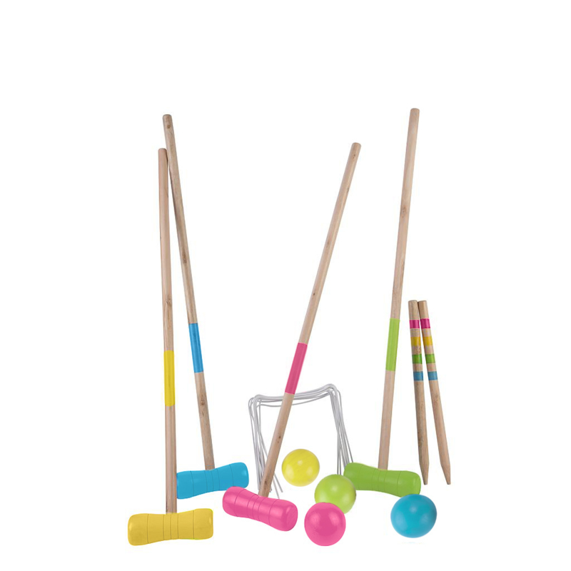 Houten croquetspel large