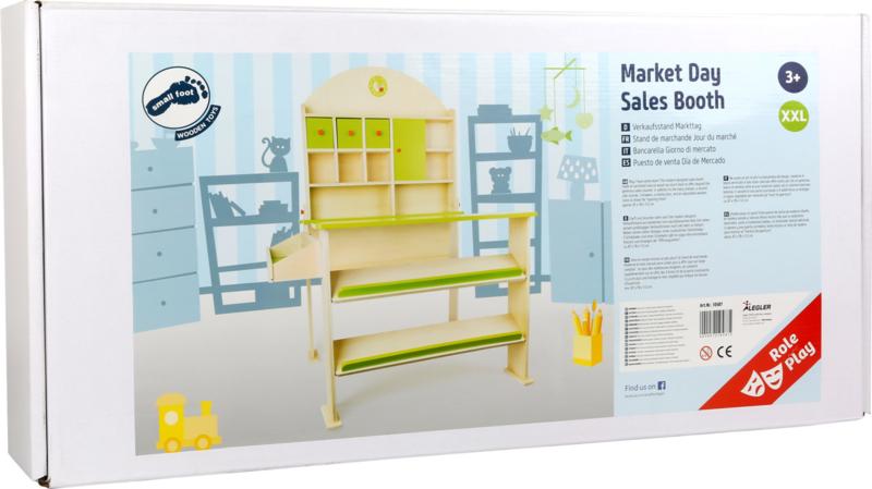 Houten winkelmarktkraam groen | Winkeltjes & keukentjes