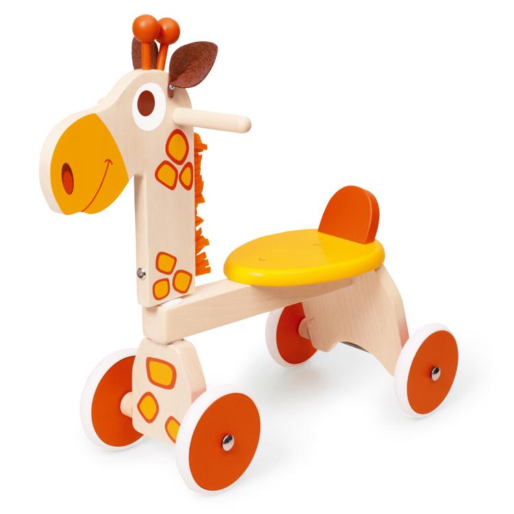 Houten loopfiets giraffe
