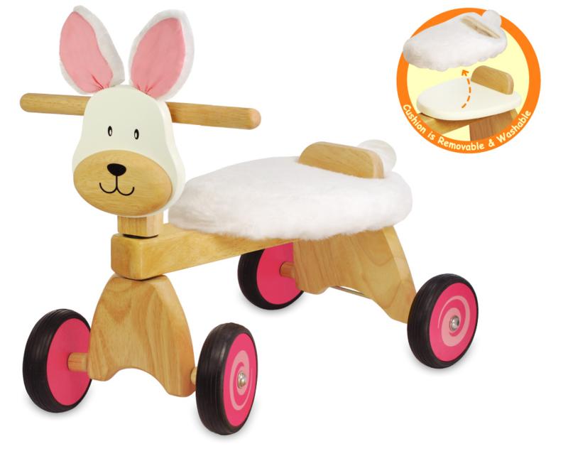 Houten loopfiets konijn I'm Toy met of zonder naam