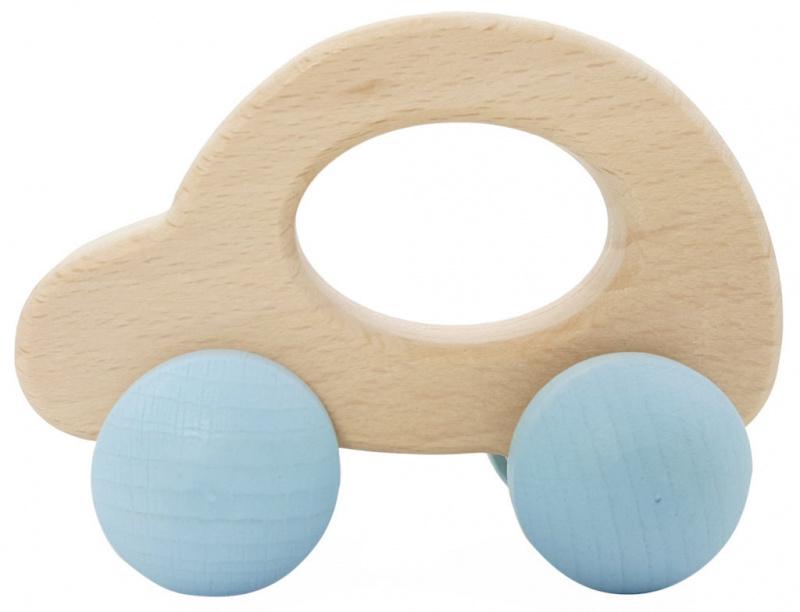 Houten auto 'naturel/blauw' Hess