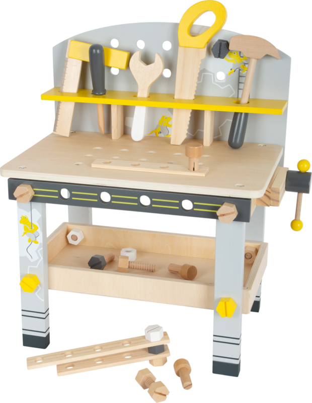 Houten werkbank fix-it incl. accessoires
