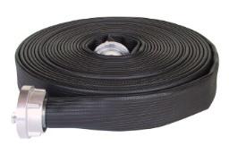 Brandslang plat oprolbaar PROFI ZWART | NBR rubber