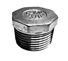 6-kant / 8 kant plug | afblindplug RVS 316 | BSP buitendraad