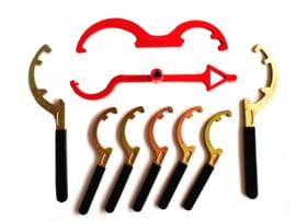 Storz koppeling sleutel met geïsoleerd handvat nok 66 - 81 - 89 - 133  (type ABC) DIN 14822