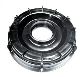 IBC schroefdeksel | vuldop voor vulopening IBC tank - DN 150 | S165x7 grove binnendraad | met S56 x 4 binnendraad opening