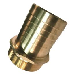 """Messing slangpilaar met zaagvertanding - 1/2"""" - 13 mm slangtule x 1/2"""" BSP buitendraad"""