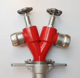 Standpijp / opzetstuk DN 80 voor ondergrondse hydranten met 2 spindelafluiters + DSP 70 aansluitingen
