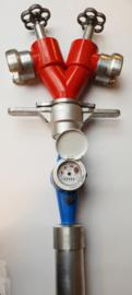 Standpijp / opzetstuk DN 80 voor ondergrondse hydranten met 2 spindelafluiters + watermeter DSP 70