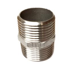 RVS 316 6-kant nippel -  Dubbel nippel 6-kant | BSP buitendraad