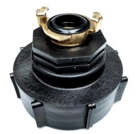 "IBC adapter S100 x 8 (DN80) 3"" grove binnendraad - GEKA (GK) MESSING"