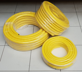 Professionele waterslang geel 19 mm x 25 meter | 5-laags anti-torsie hose (ATH) | € 1,50 per meter