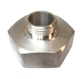 """Verloopstuk Aluminium 2"""" BSP binnendraad x 1"""" BSP buitendraad"""