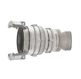 Guillemin verloopstuk / reducer /  reductiestuk aluminium DN 20 - DN 40