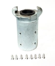 Zandstraal klauwkoppeling | Gietijzer | Voor slang ID 19 x wand 6 mm | € 13,20