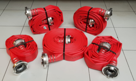 "Brandslang Synthetic P/50 (PU coating = slijtvaster) Rood 2"" x 100 meter"