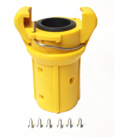 Zandstraal klauwkoppeling | Nylon | Voor slang ID 25 x wand 7 mm | € 24,00