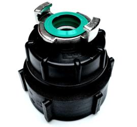 """IBC adapter S75 x 6 (DN50) 2"""" grove binnendraad - GEKA (GK) RVS 316"""