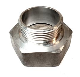 """Verloopstuk Aluminium 2"""" BSP binnendraad x 1,5"""" BSP buitendraad"""