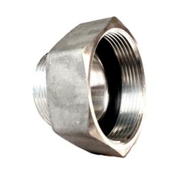 """Verloopstuk Aluminium 2"""" BSP binnendraad x 2"""" BSP buitendraad"""