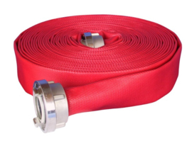 "Brandslang Synthetic P/50 (PU coating = slijtvaster) Rood 2,5"" x 20 meter"