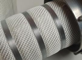 """Brandslang plat oprolbaar wit synthetisch BUDGET 2"""" - 52 mm x 20 meter + Storz NOK 81 (DN 65)"""