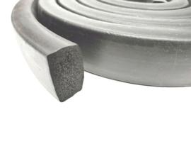 EPDM Moosruber | Mosrubber | Rubber voor waterdichte deuren | 20 x 10 mm - Lengte 30 meter | € 1,35 per meter