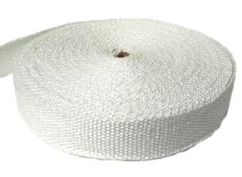 Glasband | Isolatieband | Uitlaatisolatie | Hittebestendige pakking | 25 mm x 1,5 mm - ROL= 30 meter | STAFFELKORTING VANAF 10 STUKS